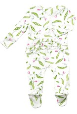 Angel Dear Sweet Peas Zipper Footie