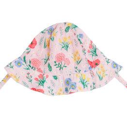 Angel Dear Summer Floral Pink Sunhat 0/6M-12/24M