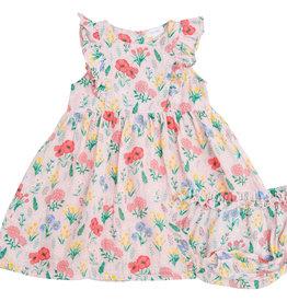 Angel Dear Summer Floral Pink Dress 6/12M-4T