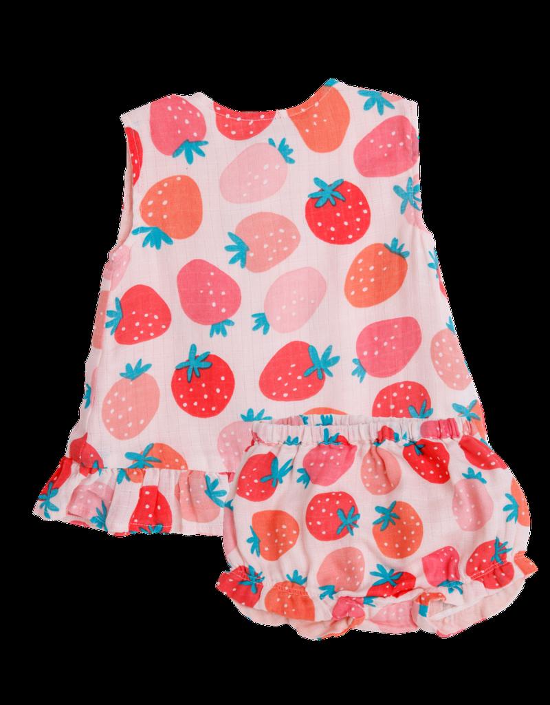 Angel Dear Strawberries Ruffle Top w/Bloomers