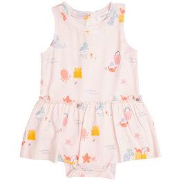 Angel Dear Sandcastle Pink Bodysuit w/Skirt 0/3M-18/24M