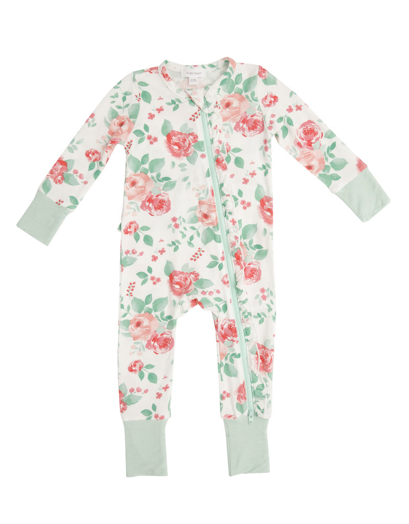 Angel Dear Rose Garden Zipper Romper