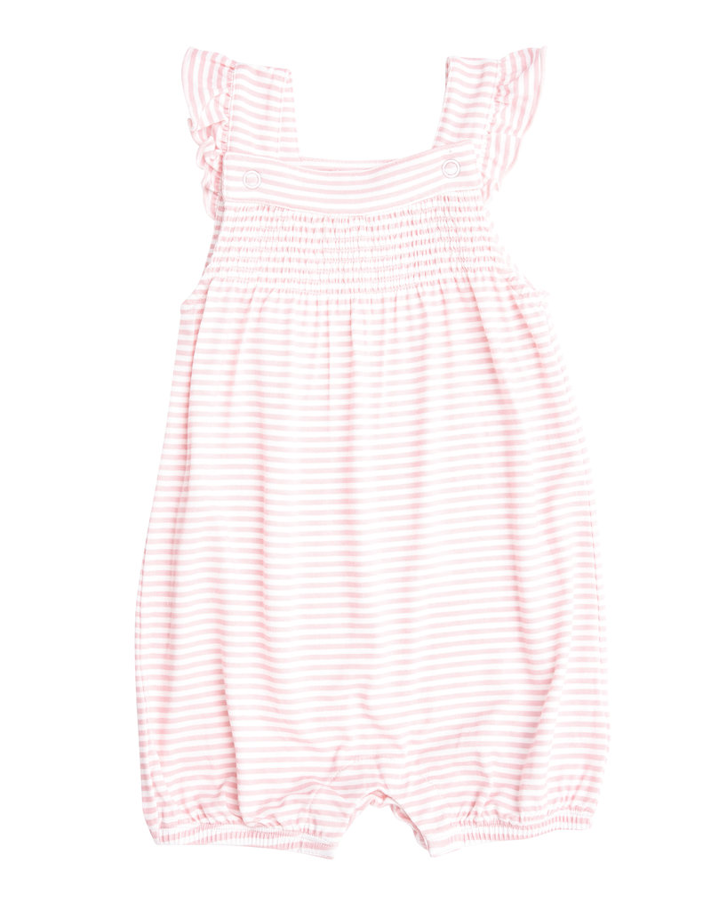 Angel Dear Puppy Play Pink Smocked Overall Shortie