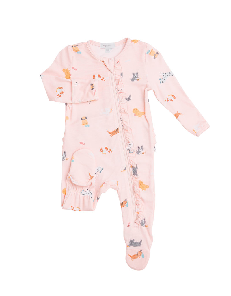 Angel Dear Puppy Play Ruffle Footie