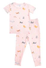 Angel Dear Puppy Play Pink Lounge Wear Set