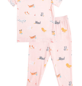 Angel Dear Puppy Play Pink Lounge Wear Set 6/12M-4T