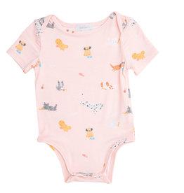 Angel Dear Puppy Play Pink Bodysuit 0/3M-18/24M