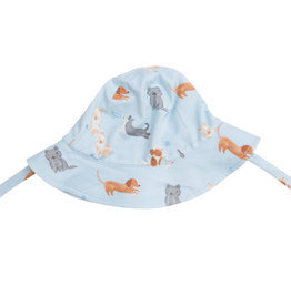 Angel Dear Puppy Play Blue Sunhat