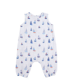 Angel Dear Nautical Boats Sleeveless Romper 3/6-18/24