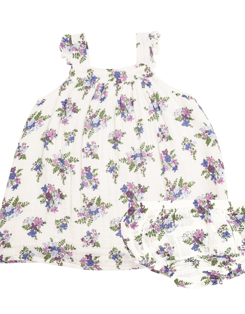 Angel Dear Lily of the Valley Purple Pinafore Top Set