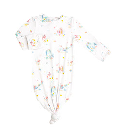 Angel Dear Iridescent Sea Creatures Knotted Gown 0/3M