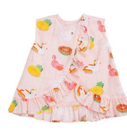 Angel Dear Floaties Ruffle Pink Top Set 3/6M-18/24M
