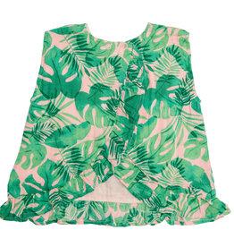 Angel Dear Tropical Leaves Ruffle Top Bloomer Set