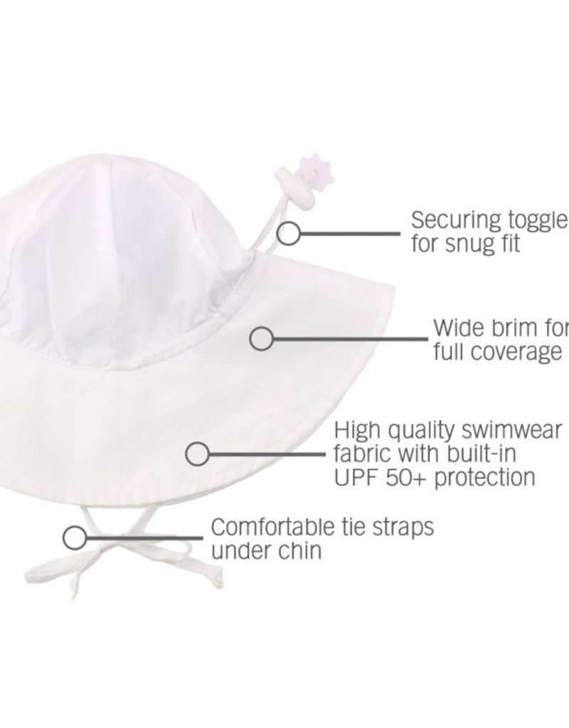 Ruffle Butts White Sun Protective Hat