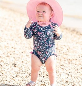 Ruffle Butts Sun Hat Protective Pink