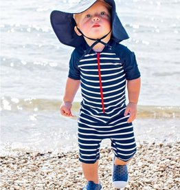 Ruffle Butts Sun Hat Protective Navy 0/6M, 2/4T