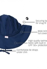 Ruffle Butts Navy Sun Protective Hat