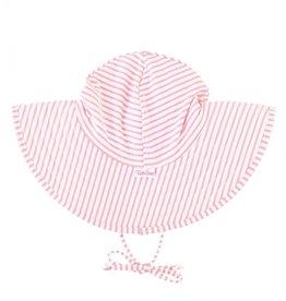 Ruffle Butts Swim Hat Pink Seersucker 0/12M-3T/5