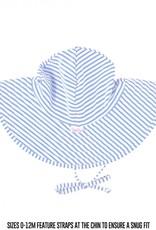 Ruffle Butts Periwinkle Blue Seersucker Swim Hat