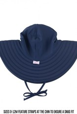 Ruffle Butts Navy Swim Hat