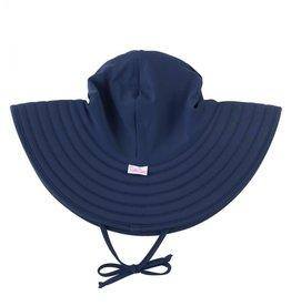 Ruffle Butts Swim Hat Navy 0/12M-3T/5
