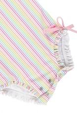 Ruffle Butts Rainbow Stripe 1 pc Rash Guard