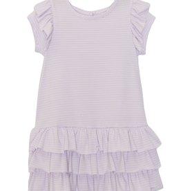 Mabel and Honey Ruffle Knit Dress Lt Purple 7, 8