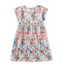 Tea Collection Empire Dress Garden Chalk 2-6