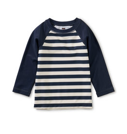 Tea Collection L/S Baby Rash Guard Whale Blue