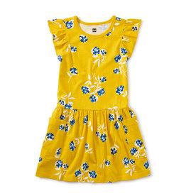 Tea Collection Flutter Sleeve Pocket Dress Flower Bunches 2-12
