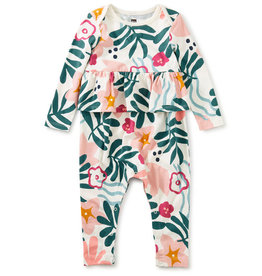 Tea Collection Peplum Romper Galapagos Vacation 0/3M-18/24M