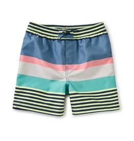 Tea Collection Mid-Length Swim Trunk Stripe Vapor 2-14