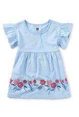 Tea Collection Ruffle Sleeve Baby Dress Placid Blue