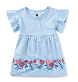 Tea Collection Ruffle Sleeve Baby Dress Placid Blue 9/12M, 18/24M