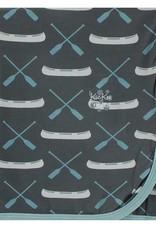 Kickee Pants Print Swaddle Stone Paddles Canoe