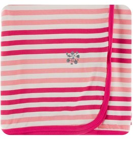 Kickee Pants Print Swaddle Forest Fruit Stripe