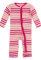 Kickee Pants Print Muffin Ruffle Coverall w/Zip Forest Fruit Stripe