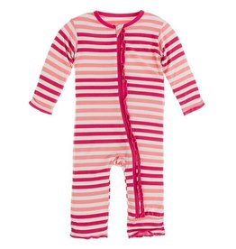 Kickee Pants Muffin Ruffle Coverall w/Zip Forest Fruit Stripe 9/12-18/24M