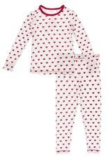 Kickee Pants Print L/S PJ Set Natural Hearts