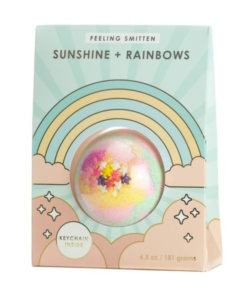 Feeling Smitten Bath Bakery Sunshine Rainbows Surprise Key Chain Bath Bomb