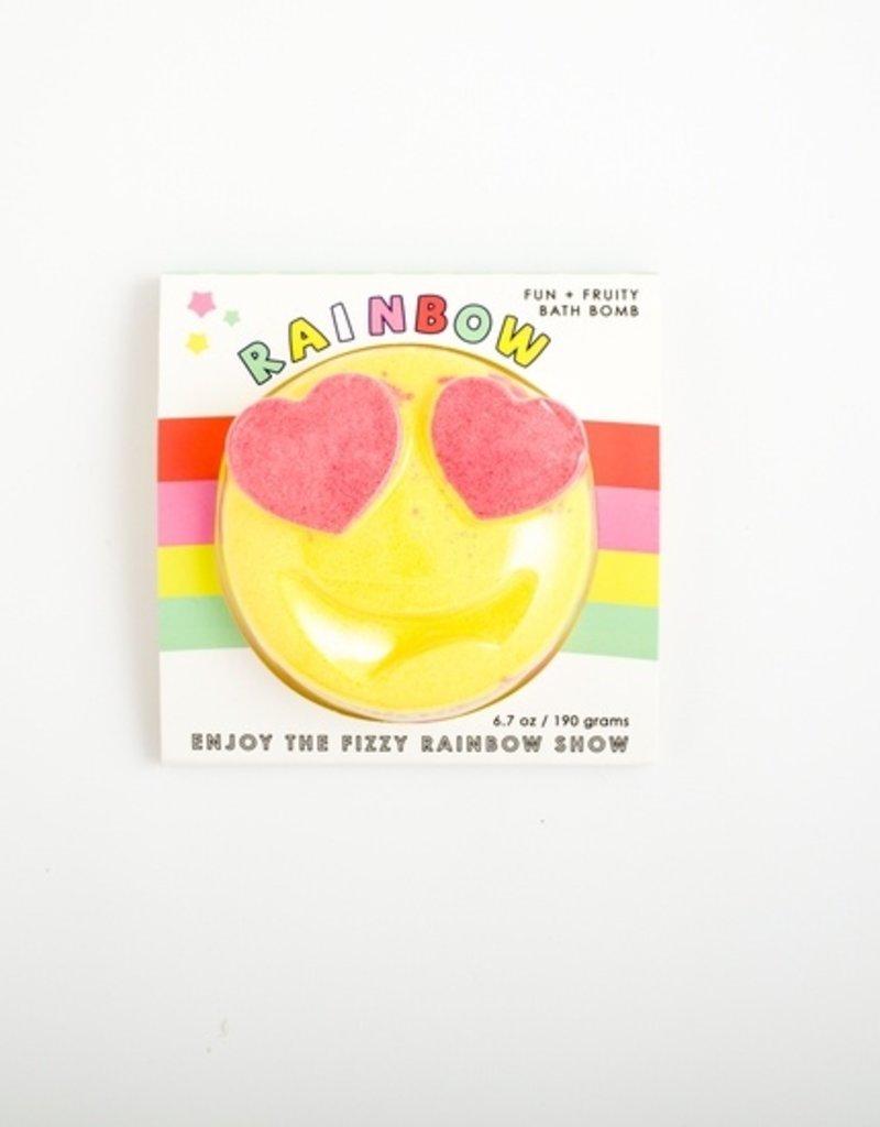Feeling Smitten Bath Bakery Fun Fruity Rainbow Emoji Bath Bomb