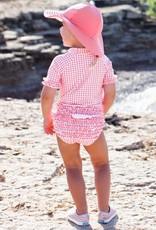 Ruffle Butts Rose Gingham Ruffled Rash Guard Bikini