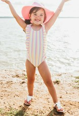 Ruffle Butts Rainbow Stripe Waterfall Swimsuit