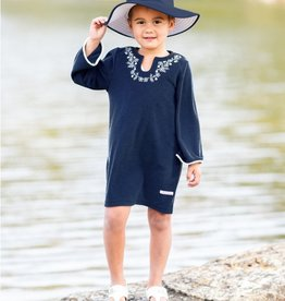 Ruffle Butts Navy Terry Tunic Cover-up 6/12M-10