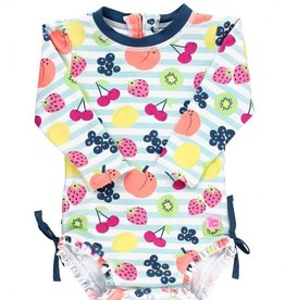 Ruffle Butts Fruit Fiesta 1 pc Rash Guard 0/3M-3T