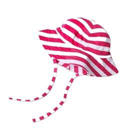 Zutano Sun Hat Stripe Fuchsia