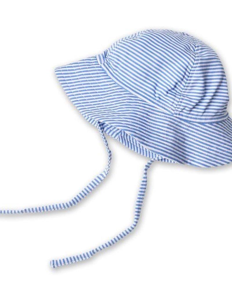 Zutano Candy Stripe Sun Hat Periwinkle