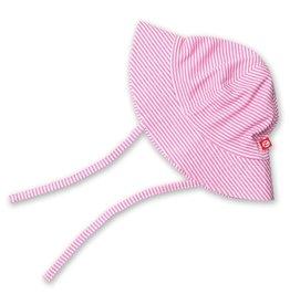 Zutano Sun Hat Candy Stripe Hot Pink