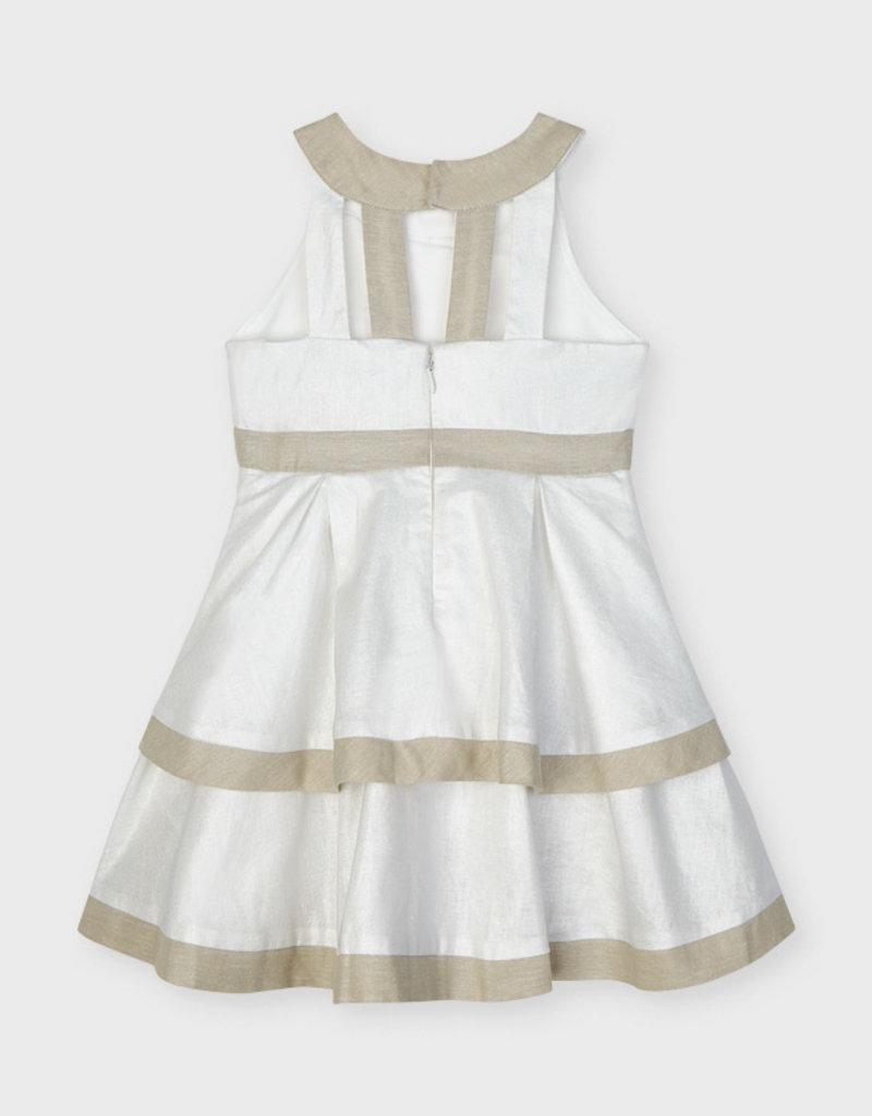 Mayoral Blotch Linen Dress Stone