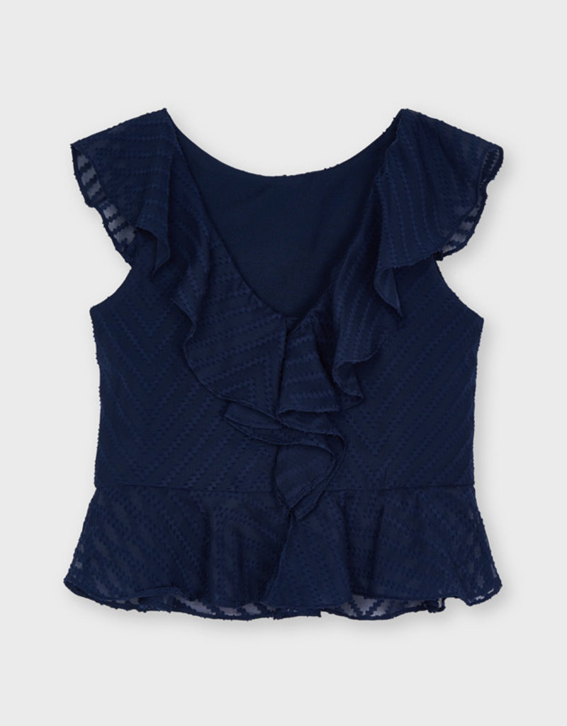 Mayoral Navy Blouse